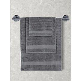 "Полотенца махровое ""KARNA FLOW"", темно-серый, 70*140 см"