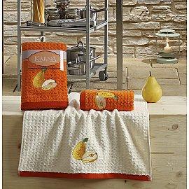 "Набор кухонных полотенец ""KARNA LEMON"" Оранжевый, v3, 45*65 см - 2 шт"