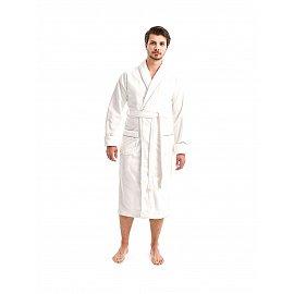 "Халат махровый мужской ""KARNA TIFANY"", белый, XL (50)"