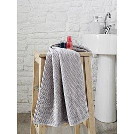 """Полотенце махровое с жаккардом """"KARNA DAMA"""", серый, 50*90 см"""