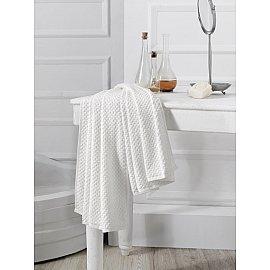 """Полотенце махровое с жаккардом """"KARNA DAMA"""", белый, 70*140 см"""