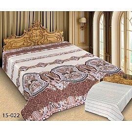 Покрывало Barokko №15-022, белый, коричневый, 180*220 см