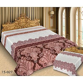 Покрывало Barokko №15-027, белый, розовый
