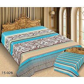 Покрывало Barokko №15-028, бирюзовый, бежевый, 200*220 см