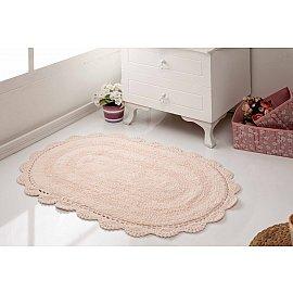 """Махровое кружевное полотенце для ног """"MODALIN DIANA"""", абрикосовый, 50*80 см"""