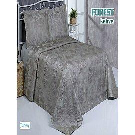 Покрывало гобелен Do&Co Forest, коричневый, 240*260 см