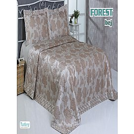 Покрывало гобелен Do&Co Forest, бежевый, 240*260 см