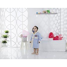 """Халат детский велюр """"KARNA SNOP"""", на 4-5 лет, голубой"""