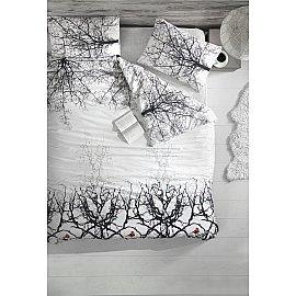 """Комплект постельного белья """"RANFORCE PIO"""" 50х70*1 (1.5 спальный), белый, черный"""