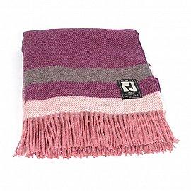 Плед шерстяной INCALPACA, фиолетовый, розовый, бежевый