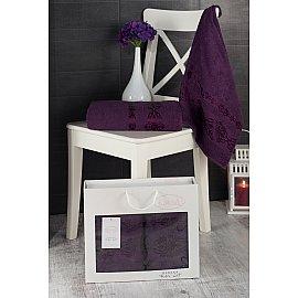 """Комплект махровых полотенец """"KARNA REBEKA"""" (50*90; 70*140), фиолетовый"""