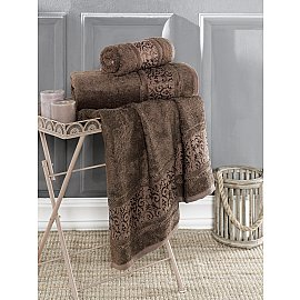"Полотенце бамбуковое ""KARNA ARMOND"", коричневый, 50*90 см"
