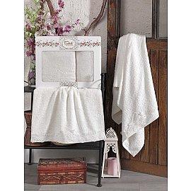 Комплект бамбуковых полотенец SIKEL BERHAMIS (50*90; 70*140), кремовый