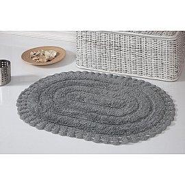 """Коврик для ванной кружевной """"MODALIN YANA"""", серый, 50*70 см"""