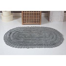 """Коврик для ванной кружевной """"MODALIN YANA"""", серый, 60*100 см"""