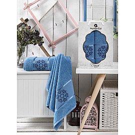 Комплект махровых полотенец MERZUKA DAMASK (50*80; 70*130), голубой