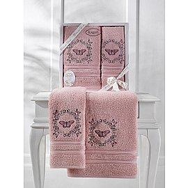 """Комплект махровых полотенец """"KARNA MARIA"""" (50*90; 70*140), грязно-розовый"""