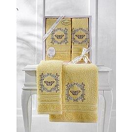 """Комплект махровых полотенец """"KARNA MARIA"""" (50*90; 70*140), желтый"""