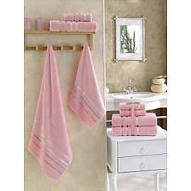 """Комплект махровых полотенец """"KARNA BALE"""" (50*80*2; 70*140*2), светло-розовый"""