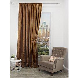 Шторы Amore Mio RR 32003-13, светло-коричневый, 200*270 см