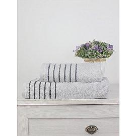 Полотенце махровое TexRepublic Bamboo Marcus, светло-серый, 70*130 см