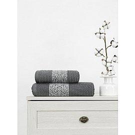 Полотенце махровое TexRepublic Cotton Barok, серый, 70*130 см