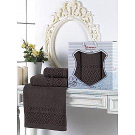 Комплект махровых полотенец Juanna Prizma (50*90*2; 70*140), шоколадный