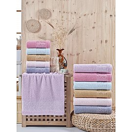 Комплект махровых полотенец DO&CO LOBATE, 50*90 см - 6 шт