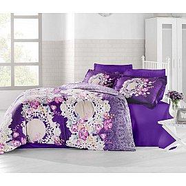 Комплект постельного белья ALTINBASAK ELVIN Сатин (2 спальный), фиолетовый