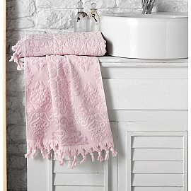 "Полотенце кухонное махровое ""KARNA OTTOMAN"", розовый, 40*60 см"