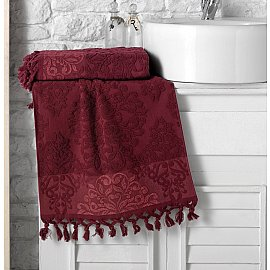 """Полотенце кухонное махровое """"KARNA OTTOMAN"""", бордовый, 40*60 см"""