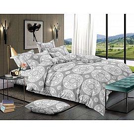 КПБ мако-сатин печатный Nice (2 спальный), серый