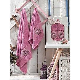 Комплект махровых полотенец MERZUKA ROSE (50*80; 70*130), светло-лиловый