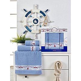 Комплект махровых полотенец Juanna Marin (50*90*2; 70*140), голубой