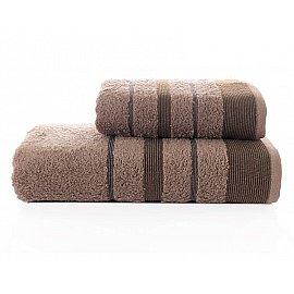 """Комплект махровых полотенец """"KARNA REGAL SET"""" (50*90; 70*140 см), коричневый"""