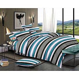 КПБ мако-сатин печатный Stripe (2 спальный)