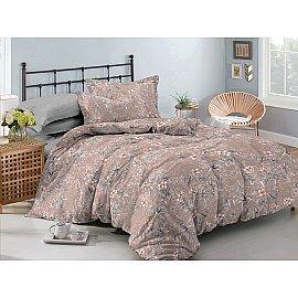 КПБ сатин Gold Carrie (2 спальный), коричневый, серый
