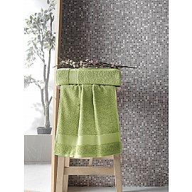 """Полотенце махровое с жаккардом """"KARNA MELTEM"""", зеленый, 50*90 см"""