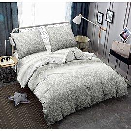 КПБ мако-сатин печатный Trek (2 спальный), серый