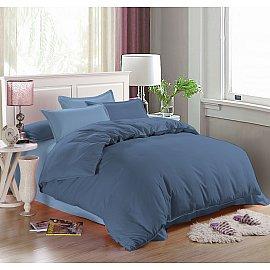 КПБ мако-сатин печатный Adriana (1.5 спальный), синий, темно-синий