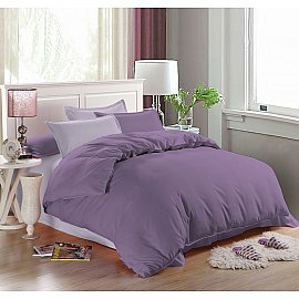 КПБ мако-сатин печатный Allegra (Евро), сиреневый, фиолетовый