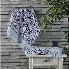 """Полотенце махровое жаккард """"KARNA DURU"""", голубой, 50*90 см"""
