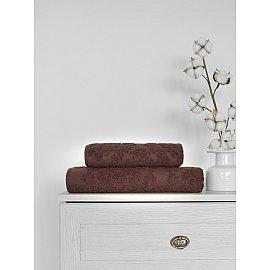 Полотенце жаккард Amore Mio Damascus, коричневый, 50*90 см