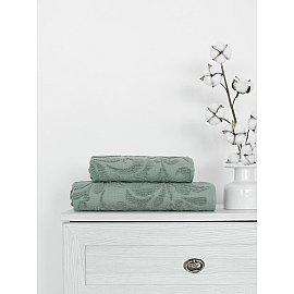 Полотенце жаккард Amore Mio Monogramma, серый, 70*130 см