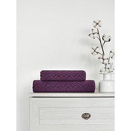 Полотенце жаккард Amore Mio Zigzag, фиолетовый, 70*130 см