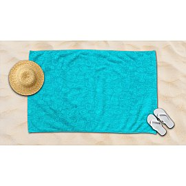 Полотенце махровое жаккард Amore Mio Sea, бирюзовый, 100*145 см