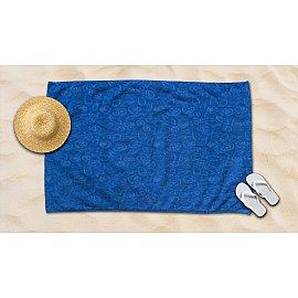 Полотенце махровое жаккард Amore Mio Sea, синий, 100*145 см