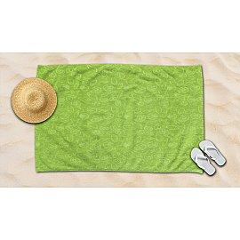 Полотенце махровое жаккард Amore Mio Sea, лимонный, 100*145 см