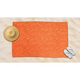 Полотенце махровое жаккард Amore Mio Sea, оранжевый, 100*145 см