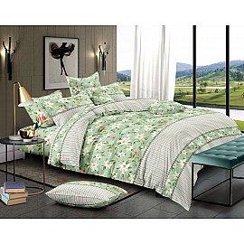 КПБ мако-сатин печатный Country (2 спальный), зеленый